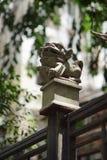 камень сброса nanjing льва фарфора Стоковые Изображения