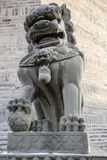 камень сброса nanjing льва фарфора Стоковая Фотография RF