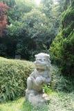камень сброса nanjing льва фарфора Стоковое Изображение
