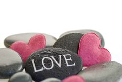 камень сердца розовый Стоковые Фотографии RF