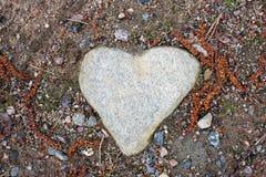 камень сердца форменный Стоковые Изображения RF