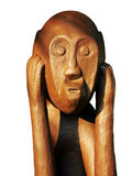камень скульптуры гипсолита 4of6 Борнео мыжской Стоковая Фотография