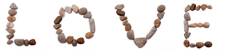 Камень составленный писем Стоковая Фотография RF