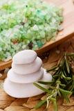 камень спы солей для принятия ванны Стоковое Изображение RF