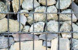 Камень старая ржавая железная сетка Стоковая Фотография RF