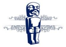 камень статуи изверга маски Стоковые Фото