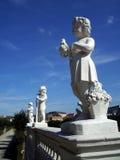 камень статуй детей Стоковая Фотография