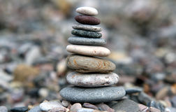 камень стога стоковое изображение