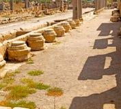 камень столбца старый в индюке Азии конструкции perge Стоковая Фотография