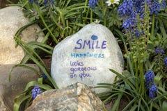Камень с текстом стоковое изображение rf