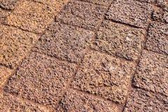 Камень, текстура или предпосылка, каменная мостоваая Стоковое Фото