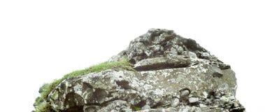 Камень утеса изолированный на белой предпосылке стоковые изображения