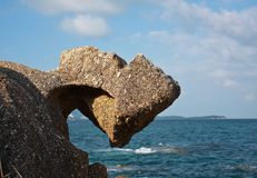 камень утеса Стоковые Изображения RF