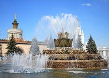 камень фонтана цветка Стоковое Изображение
