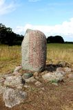 камень Швеция rune надписи Стоковое Фото
