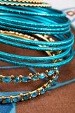 камень ювелирных изделий голубого браслета индийский Стоковая Фотография