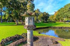 камень японского фонарика сада Стоковая Фотография