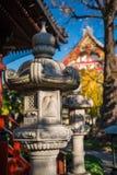 камень японского фонарика традиционный Стоковая Фотография RF