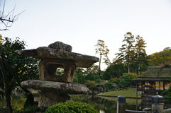 камень японского фонарика Стоковое фото RF