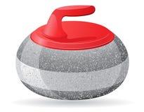 Камень для завивая иллюстрации вектора игры спорта Стоковое фото RF