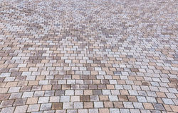 Камень Duotone желтый и серый кирпича на том основании для улицы Roa Стоковое Изображение