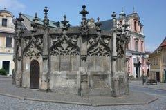 камень kutna hora фонтана готский стоковое фото rf