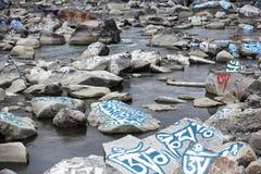 Камень mani тибетца (камень Marnyi) Стоковое Изображение RF