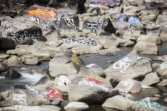 Камень mani тибетца (камень Marnyi) Стоковые Изображения