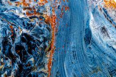 Камень Pietersite макроса минеральное на белой предпосылке стоковое фото rf