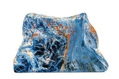 Камень Pietersite макроса минеральное на белой предпосылке стоковое фото