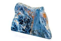 Камень Pietersite макроса минеральное на белой предпосылке стоковая фотография rf