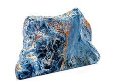 Камень Pietersite макроса минеральное на белой предпосылке стоковые изображения rf