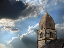 камень steeple неба бурный Стоковое фото RF