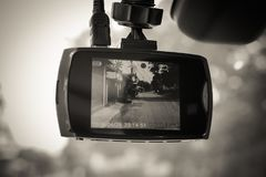 Камера автомобиля CCTV для безопасности на дороге Рекордер камеры Стоковые Изображения