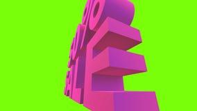 Камера двигая вокруг фиолетовое название сток-видео
