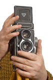 камера вручает студию съемки фото Стоковые Фотографии RF