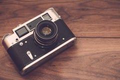 Камера в винтажном стиле стоковые фотографии rf