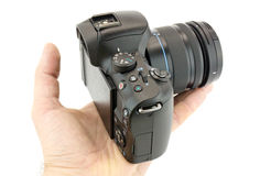 Камера в руке стоковое фото rf