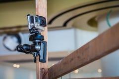 Камера действия GoPro на поляке стоковые фото