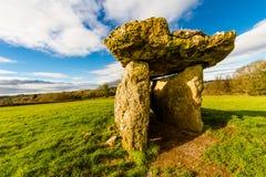 Камера захоронения St Lythans, южный уэльс стоковое изображение rf