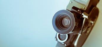 камера изолированная над белизной сбора винограда rangefinder Стоковое Фото