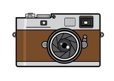 камера изолированная над белизной сбора винограда rangefinder Стоковые Изображения