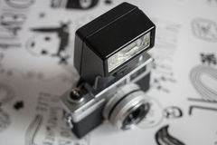 камера изолированная над белизной сбора винограда rangefinder Стоковые Изображения RF