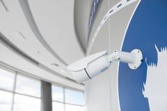Камера камеры слежения или замкнутой цепи наблюдения на стене Стоковое Изображение