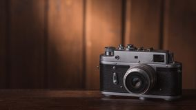 Камера на таблице стоковая фотография