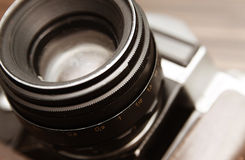 Камера объектива старая Стоковое фото RF