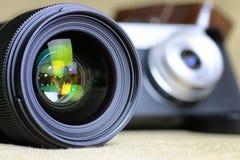 Камера пирофакела объектива ретро Стоковое Изображение