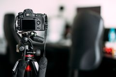 камера принимая фото дизайна интерьера стоковая фотография rf