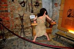 Камера пыток в вызванном замке Hunedoara, замком Corvin в Transilvania Стоковая Фотография