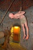 Камера пыток в вызванном замке Hunedoara, замком Corvin в Transilvania Стоковое Изображение